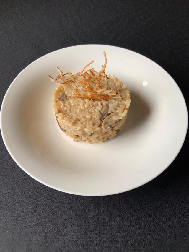 Risotto con shiitake y parmesano